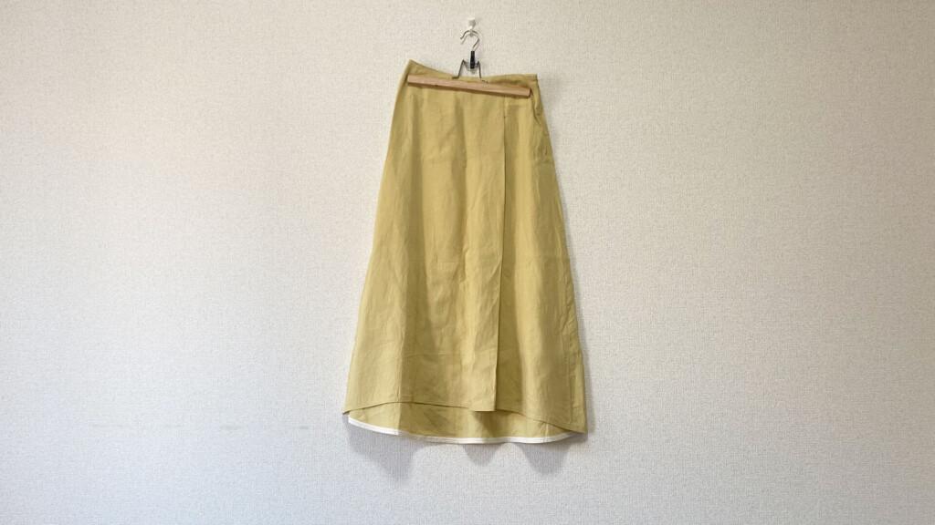 Demi-Luxe BEAMSのリネンスカート